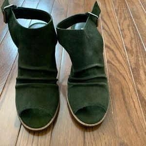 Olive Green ankle boot BNWOT